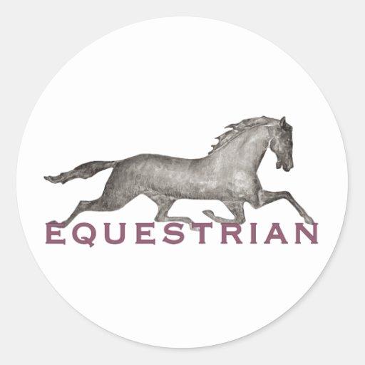trottingHorseEquestrian Sticker