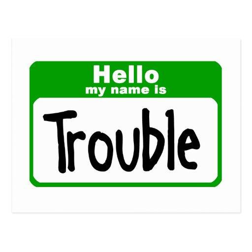 trouble3 tarjetas postales