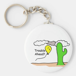 Trouble Ahead Basic Round Button Keychain