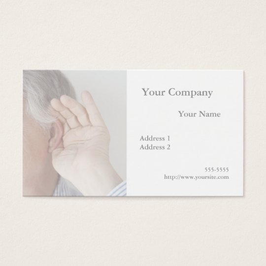 trouble hearing business card