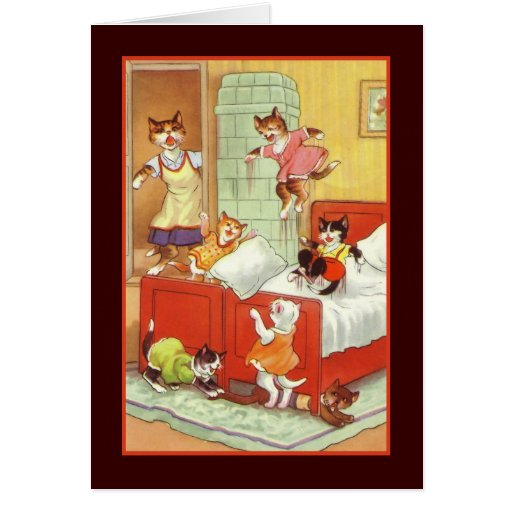 Trouble in the Bedroom Greeting Card