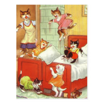 Trouble in the Bedroom Postcard