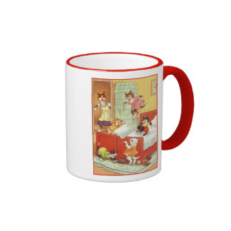 Trouble in the Bedroom Ringer Mug