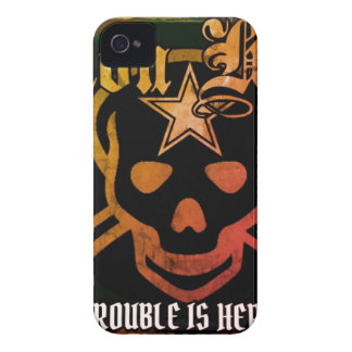 Trouble is here iphone4s case