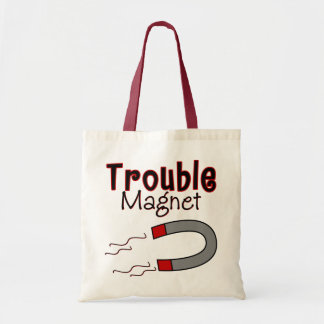 Trouble Magnet Tote Bags