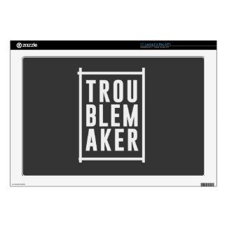 "Trouble maker 17"" laptop skins"