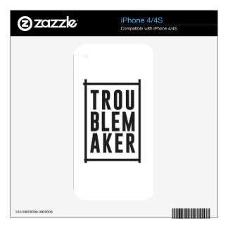 Trouble maker decals for iPhone 4S