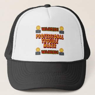 Trouble Maker Funny T-shirts Gifts Trucker Hat