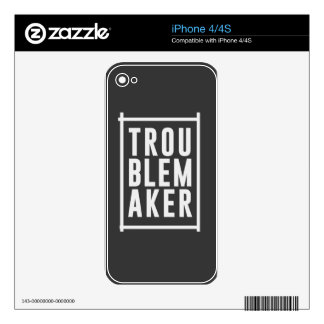 Trouble maker iPhone 4S decal