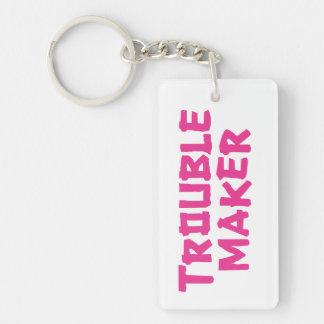 Trouble Maker Single-Sided Rectangular Acrylic Keychain