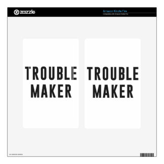 Trouble maker kindle fire decal