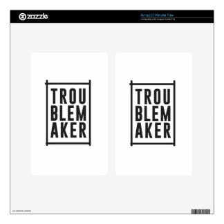 Trouble maker kindle fire decals