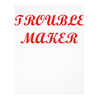 trouble maker letterhead