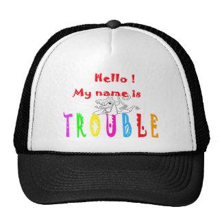 TROUBLE-MONKEY GORRAS