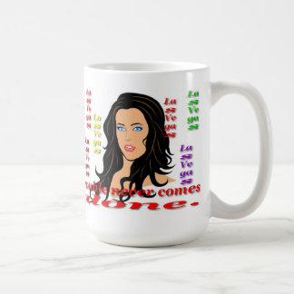 Trouble never comes alone mug