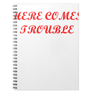 TROUBLE.png Spiral Note Books