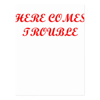 TROUBLE.png Postcard