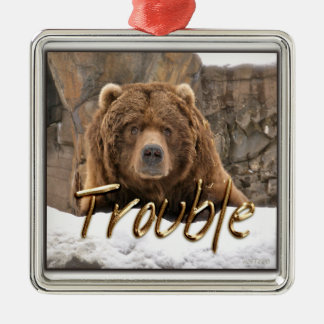 Trouble the Bear Ornament