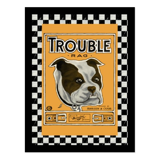 Trouble the Bulldog Postcard