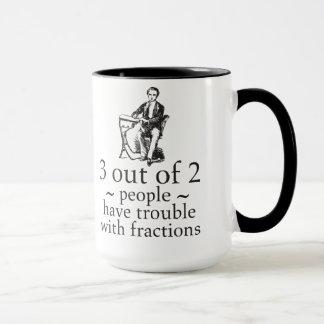Trouble With Fractions Math Nerd Humor Mug