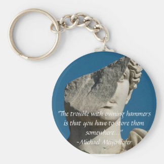 Trouble with Hammers by Michael Meyerhofer Basic Round Button Keychain