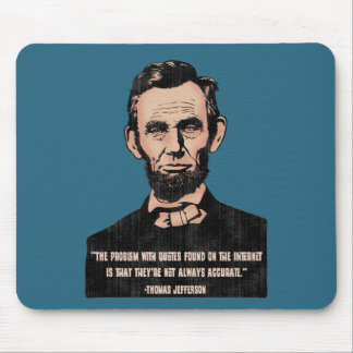 Trouble With Quotes Mouse Pad