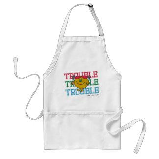 Trouble x3 adult apron