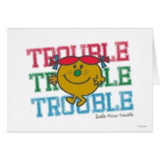 Trouble x3 card