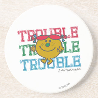 Trouble x3 drink coaster