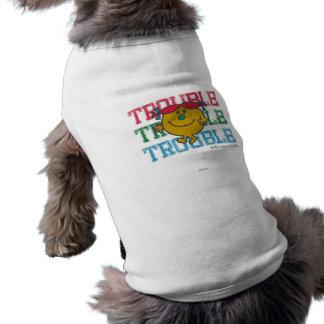 Trouble x3 pet t-shirt