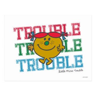 Trouble x3 postcard