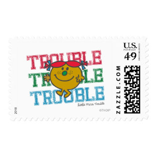 Trouble x3 stamp