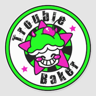TroubleBaker-1 Classic Round Sticker