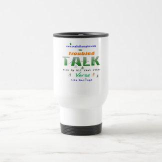 troubled - big gulp 15 oz stainless steel travel mug