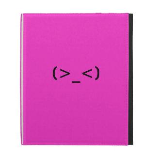 Troubled Emoticon iPad Folio Cases