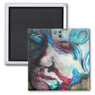 troubled waters 2 inch square magnet