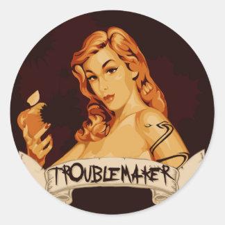 TroubleMaker Classic Round Sticker