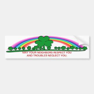 TROUBLES - IRISH BLESSING CAR BUMPER STICKER