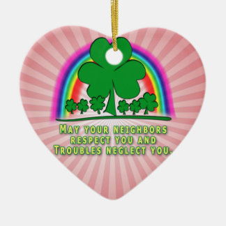 TROUBLES - IRISH BLESSING CHRISTMAS TREE ORNAMENT