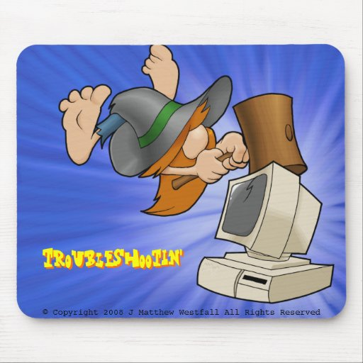 Troubleshootin' Mouse Pad
