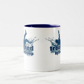 Troughed by The Troop tea mug