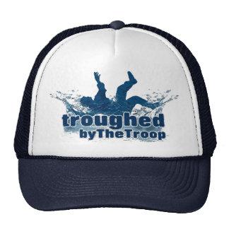 Troughed por la marina de guerra/el blanco del cas gorras de camionero