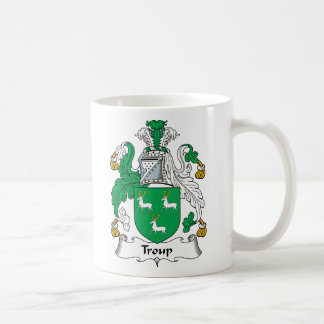 Troup Family Crest Classic White Coffee Mug