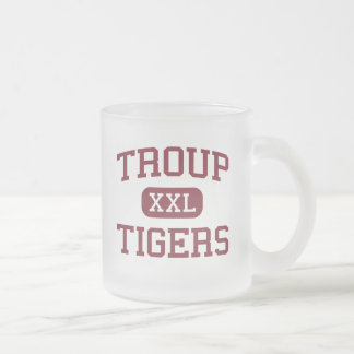 Troup - Tigers - Troup High School - Troup Texas 10 Oz Frosted Glass Coffee Mug