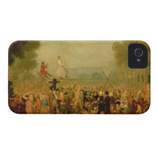 Troupe of Actors Performing on a Tightrope iPhone 4 Case-Mate Case