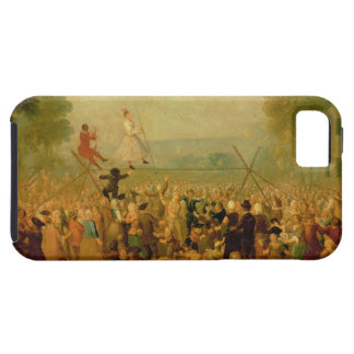 Troupe of Actors Performing on a Tightrope iPhone SE/5/5s Case