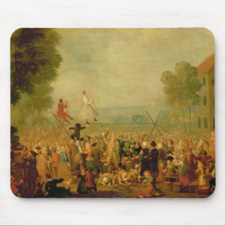 Troupe of Actors Performing on a Tightrope Mouse Pad