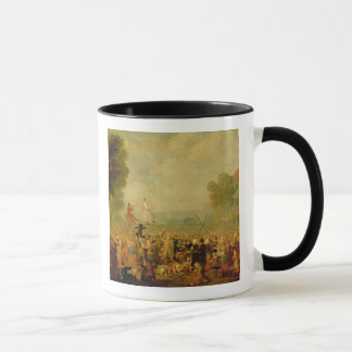 Troupe of Actors Performing on a Tightrope Mug