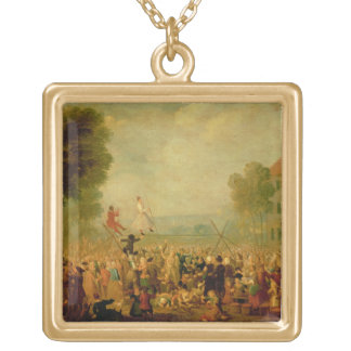 Troupe of Actors Performing on a Tightrope Custom Jewelry