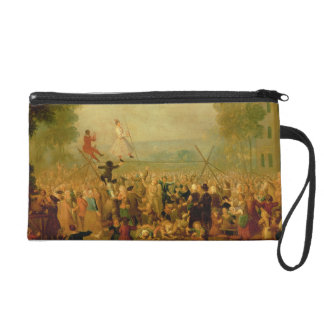 Troupe of Actors Performing on a Tightrope Wristlet Purse
